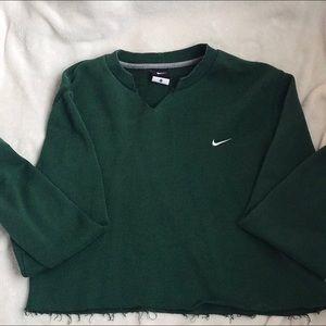 Nike Cropped Crewneck Sweater Green